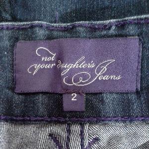 NYDJ Jeans - NYDJ womens jeans capris Sz 2 Dark blue Cuffs Tabs